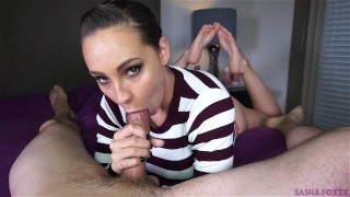 Mouth full of cum! Yum!  oral creampie big booty mark rockwell the pose Pov Blowjob cim cock sucking barefoot swallow huge cock ocp sasha foxxx huge ass cum in mouth