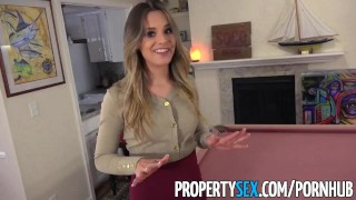 PropertySex - Extremely hot real estate agent cheers up client  real estate agent hard sex point of view big cock babe funny blowjob blonde pov missionary heels orgasm facial doggystyle propertysex great sex