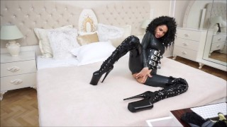 Anisyia Livejasmin Full latex bodysuit extreme high heels  big round tits fitness model extreme high heels huge kink brunette petite bodysuit penetration latex big boobs romania big roud ass curly hair camgirl