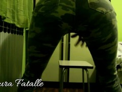 DADDYS GIRL CHAIR HUMPING and PANTS WETTING-Laura Fatalle
