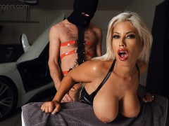 VRBANGERS- Robber Fucks Busty Milf Bridgette B In The Garage