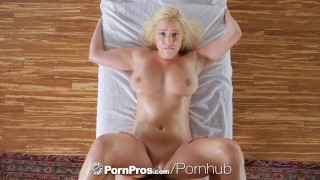 PORNPROS Busty blonde Kylie Page sexual massage and fuck