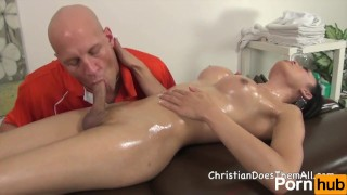 Christians Shemale Massage - Scene 5  big ass big tits bareback tranny transsexual blowjob cumshot big dick massage cowgirl anal sex doggy oil anal shemale transgender