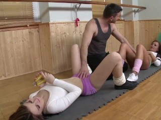 Gorgeous Gym Babes Fucked Trainers Brains Out