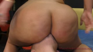 Julie Makes Her Wimp Husband Eat Her Ass - Femdom Ass Worship  ass worship big ass big tits asslicking cuckold femdom meanbitches chubby curvy kink butt kiss her ass julie cash huge ass loser humiliation ass kissing lick her asshole