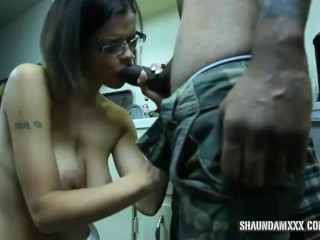 WIfe giving a nigger dick assurance for her black dick loving friend