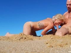 Kissa Sins First Porn, Public Fucking in Ruins and Beach w/ Johnny Sins