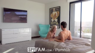 SpyFam Big tit step mom Brandi Love fucks gamer stepson  big tits spyfam hd old mom blowjob cumshot milf hardcore mature sex mother spy step son step mom brandi love