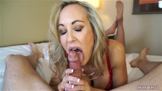 Insanely hot MILF treats your cock to a sensual sucking (Brandi Love)  mark rockwell marks head bobbers point of view big tits big load lingerie mhb mom pov milf mother mhbhj huge cumshot milf pov thigh high stockings brandi love