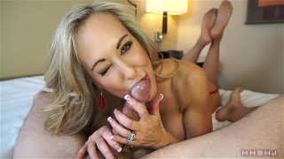 Insanely hot MILF treats your cock to a sensual sucking (Brandi Love)  mark rockwell marks head bobbers point of view brandi love milf pov big tits big load lingerie mhb mom pov milf mother mhbhj huge cumshot thigh high stockings