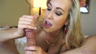 Insanely hot MILF treats your cock to a sensual sucking (Brandi Love)  mark rockwell marks head bobbers point of view milf pov big tits big load lingerie mhb mom pov milf mother mhbhj huge cumshot thigh high stockings brandi love