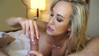 Insanely hot MILF treats your cock to a sensual sucking (Brandi Love)  marks head bobbers point of view brandi love milf pov big tits big load lingerie mom pov milf mother huge cumshot mark rockwell mhbhj thigh high stockings mhb
