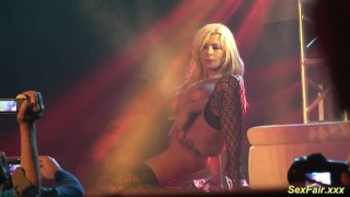 german Milf lapdance on stage