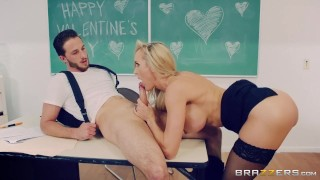 Brazzers - Naughty Teacher Brandi Love fucks her student  big ass big tits high heels trimmed booty mom blonde brazzers fishnets school mother teacher stockings big boobs