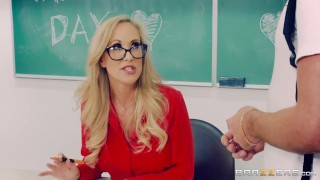 Brazzers - Naughty Teacher Brandi Love fucks her student  big ass big tits high heels trimmed booty mom blonde brazzers fishnets mother teacher stockings big boobs school