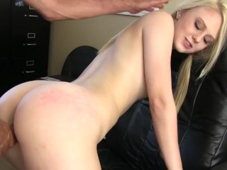 Lily rides a huge cock and rims her step dad to make him cum
