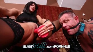 Cuckold Training Her Husband  pussy kink shaved sex toys subbyhubby masturbation cuckold training femdom fetish fucking