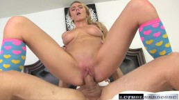 Molly blows and fucks her new
