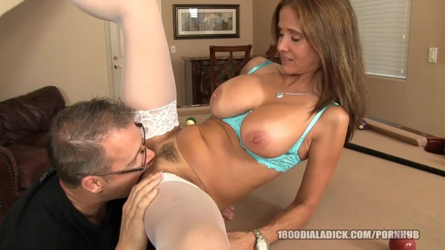 800dad big tit rich bitch calls over gigolo to service her cunt 6