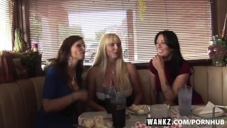 WANKZ- Three Stacked Milfs Desperate For Meat  doggy style big tits big cock old blonde mom foursome skinny milf hardcore curvy gangbang brunette cougar mother stockings wankz cum swap