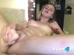 Petite Blonde Has a Sweet Orgasm With Her Big Dildo