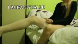 TEEN STEP SISTER NYLON AND STOCKINGS MASTURBATION - Laura Fatalle