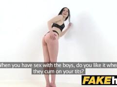 Fake Agent Hot skinny lingerie model fucked on photoshoot