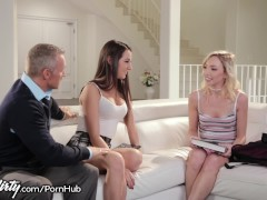 Pervy Dad Feels up Daughters Teen Friend