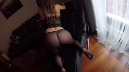 Sexy MILF Claudia fucked in pantyhose