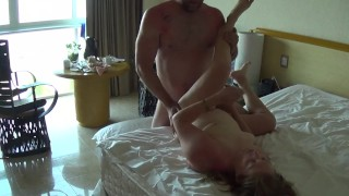 Room Service tries to walk in during filming, too funny!