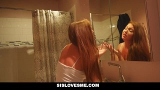 SisLovesMe- Sis Rubs My Cum All Over Her Face  point of view family taboo big cock teen hd skinny sister young taboo teens brother and sister brunette petite sislovesme teenager step sister step brother brother fucks sister