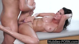 Nubiles-Porn Oiled Up Dillion Harper Squirts & Fucked Hard