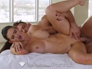 PUREMATURE MILF Kendall Karson aged pussy massaged and fucked