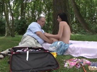 Sex Teen movie: OLD YOUNG Romantic Sex Between Fat Old Man and Beautiful Teen Girl