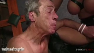 Hot Mistress feeds cuckold slave her hot spunky pussy after big cock fuck  big cock femdom hardcore eating pussy amateur fingering latex mistress carly big boobs cumshot bdsm mistress bondage cuckold