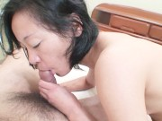 Horny Japanese granny spreads legs for toys and sex