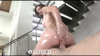 LUBED CeCe Capella lubes up whole body for slippery sexy fuck  big cock hardcore sex hottie bubble butt blowjob shaved pussy drilled lubed cece capella titty fuck big dick hd oiled bald pussy