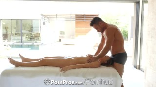 PORNPROS Big tit Alexis Adams massage fucked and facialed