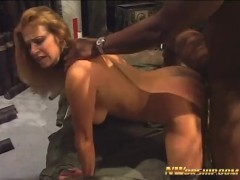 hot blonde milf with pink pussy gives her ass to black bull