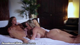 Sweetheart Brandi with Abigail's Intense Chemistry  big tits older younger scissor lesbians mom blonde pornstar milf lesbian sweetheartvideo scissoring mother tribbing big boobs girl on girl trib
