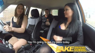 Fake Driving School threesome with spoilt teen in the mean orange machine  car sex big tits spanking british creampie mom blowjob pov young fakedrivingschool reality 3some mature mother teenager pussy licking british milf fake tits