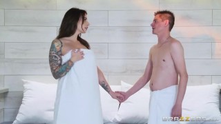 Brazzers - Sexy Sauna Slut  big tits ass big cock cheating wife blowjob thick brazzers missionary couples pounding brunette butt feet drilled sneaky