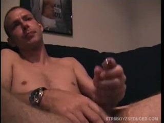 Straight Boy Troy Jacking Off