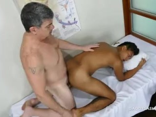 Daddy Bareback Fucks Asian Boy Josh