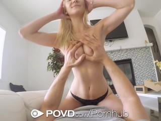 POVD Koerier neukt en facialt blonde Jade Amber