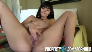 PropertySex - Gorgeous agent with big natural tits fucks homeowner  hardcore point of view amateur babe big natural tits big boobs cumshot titty fuck pov cowgirl reality propertysex real estate agent funny busty doggystyle