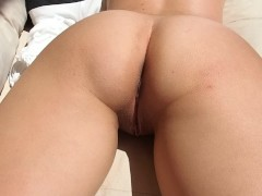 Homemade Wife Wet Pussy Teasing on the balcony under the sun
