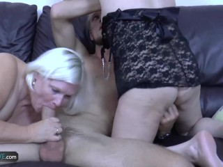 AgedLovE Blonde Mature Chubby Lacey Hardcore Fun
