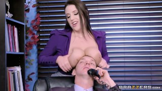 Brazzers - Angela the horny Office Slut work fantasy big cock huge tits rough natural hardcore australian squirting office slut thick big boobs secretary big naturals orgasm brunette brazzers natural tits