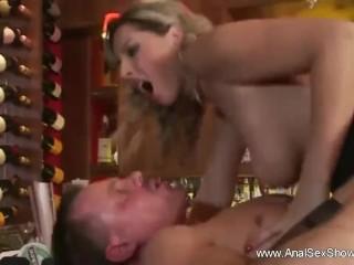 Blonde MILF Anal Sex invasion